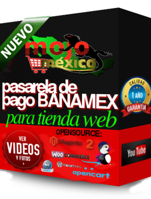 Pasarela de pago Banamex SHA256 o HPP Prestashop