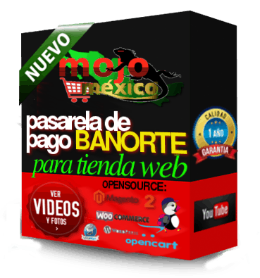 Conector Banorte Cybersource-3D-PW2 para Woocommerce