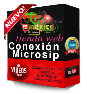 Conector Microsip para tiendas Web Profesionales